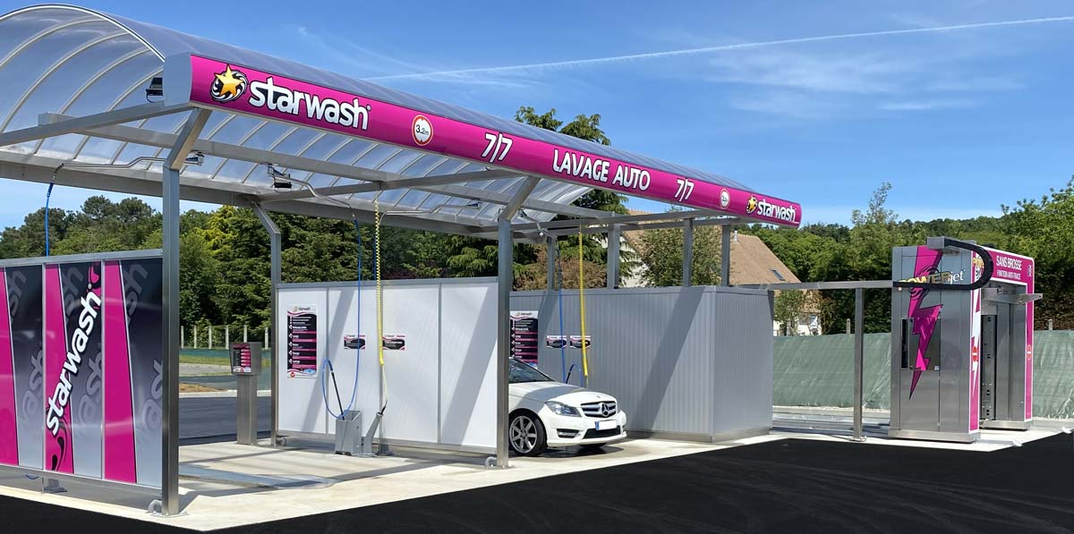 station de lavage multipiste