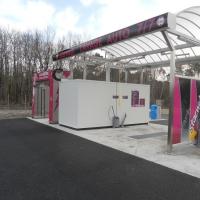 Centre de lavage 2 pistes avec couverture inox et Powerjet