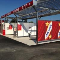 station de lavage 2 poistes hautes presssion et couverture inox + portique Powerjet